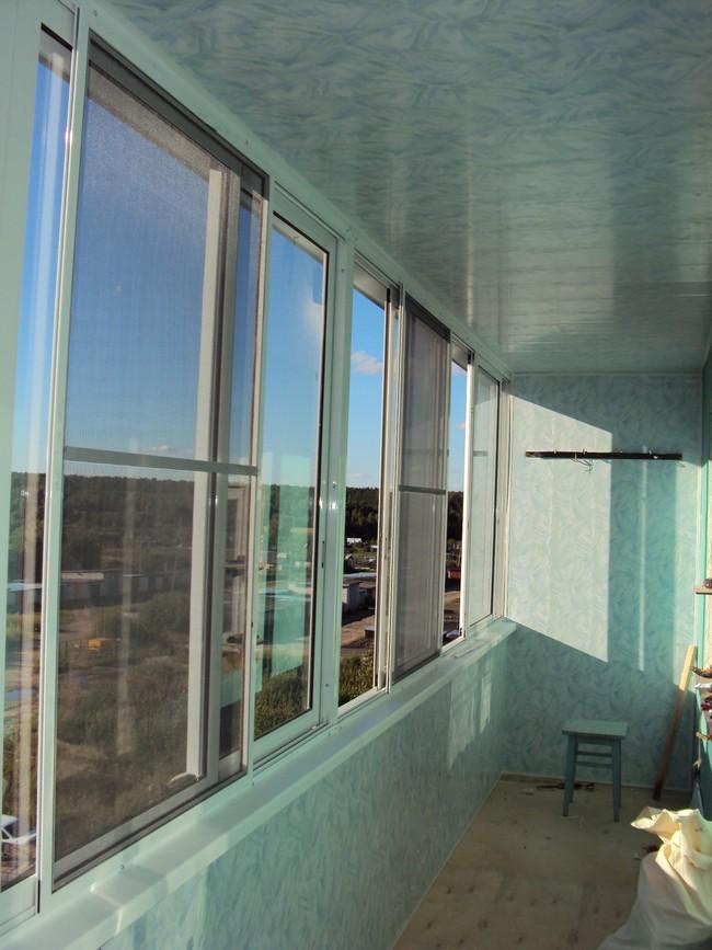 Балконы из алюминиевого профиля.